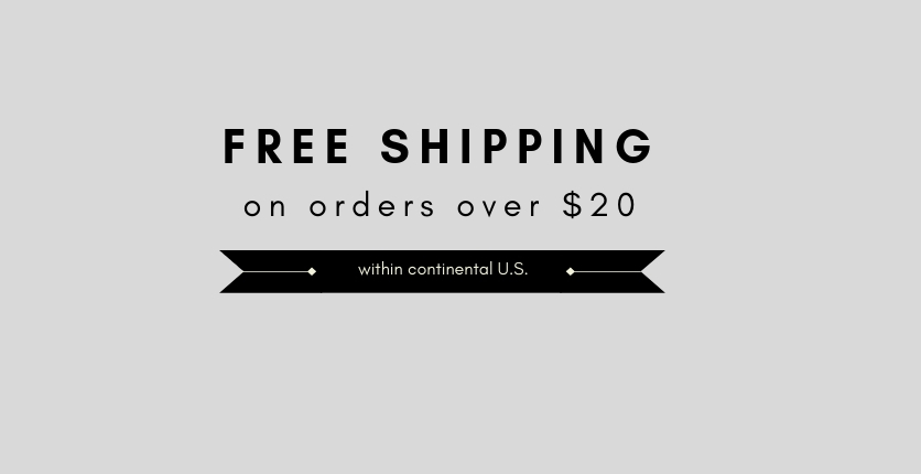 Free shipping on your travel sized order of over $20