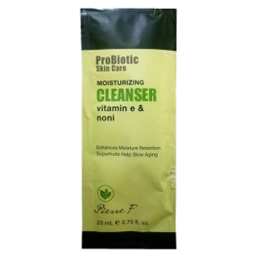 Pierre F ProBiotic Skin Care Moisturizing Cleanser BC2-0189400-1400-0.75 fl oz. packet. Vitamin E & Noni.