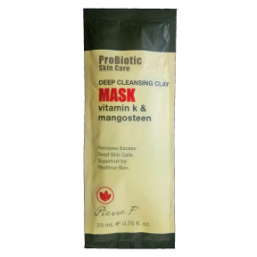 Pierre F ProBiotic Skin Care Deep Cleansing Clay Mask BC2-0189403-1400-0.75 fl oz. packet. Vitamin K & Mangosteen.