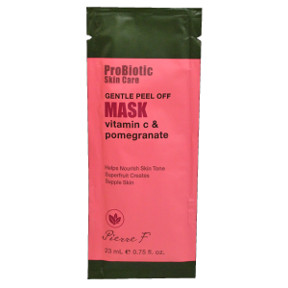 Pierre F ProBiotic Skin Care Gentle Peel Off Mask BC2-0189404-1400-0.75 fl oz. packet. Vitamin C & Pomegranate.