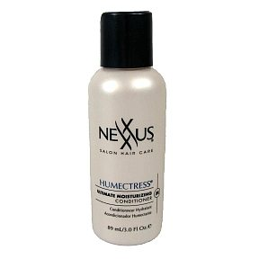 Nexxus Humectress Conditioner BC3-0275001-8300 - 3 oz conditioner in travel size plastic bottle.