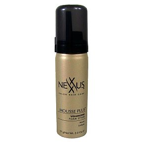 Nexxus Mousse Plus BC3-0575001-8200 - 2 oz hair styling mousse in travel size aerosol can.
