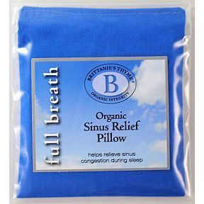 Brittanie's Thyme Organic Sinus Relief Pillow BV3-0461402-9200 - A special blend of herbs to aid in the relief of sinus congestion and promote clearer breathing while you sleep. Offers relief from colds, sinusitis, allergies, and sinus headaches.