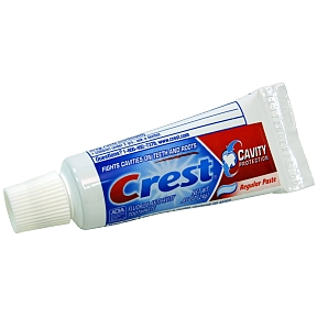 Crest Cavity Protection Toothpaste (unboxed) C01-0114101-8100 - 0.85 oz travel size toothpaste tube. Fluoride toothpaste.