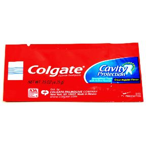 Colgate Cavity Protection Toothpaste (packet) C01-0114201-1100 - 0.15 oz travel size individually sealed toothpaste packet. Great regular flavor.