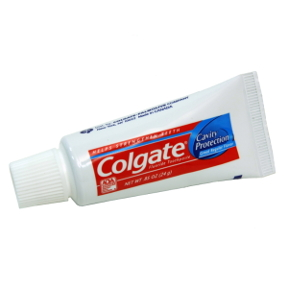 Colgate Cavity Protection Toothpaste( Unboxed) C01-0114201-8100 - 0.85 oz travel size toothpaste tube.