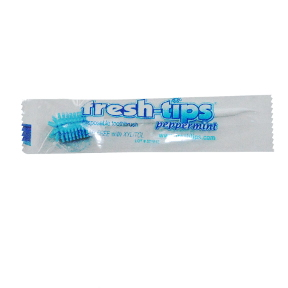 Fresh-Tips® Peppermint C01-0467601-9000-1 Disposable Toothbrush individually wrapped. Peppermint Flavored.