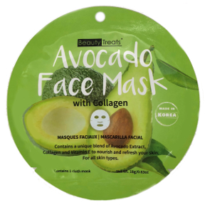 Beauty Treats® Avocado Face Mask with Collagen, C02-0148111-1400