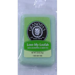Grandpas Love-My-Loofah bar soap C02-0168104-8200 - 1.25 oz individually wrapped.