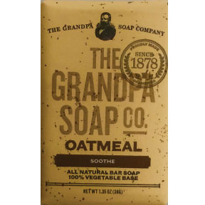 The Grandpa Soap Co. Oatmeal Soothe Bar Soap C02-0168110-8200 - 1.35 oz. individually wrapped all natural bar soap.