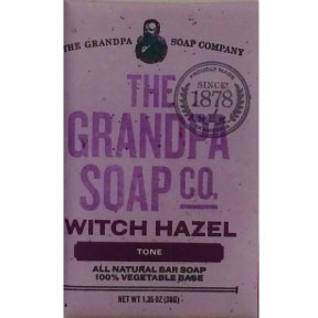 The Grandpa Soap Co. Witch Hazel Tone Bar Soap C02-0168111-8200 - 1.35 oz. individually wrapped all natural bar soap.