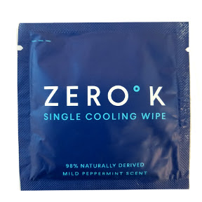 Zero K Cooling and Cleansing Wipe - Single  Packet C02-0237801-1000