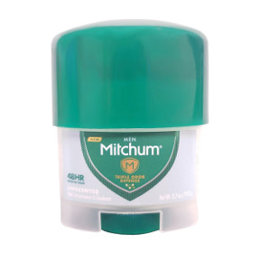Mitchum Anti-perspirant Deodorant C02-0250101-8100 - 0.7 oz travel size deodorant. Unscented. Clear gel.