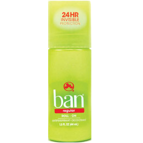Ban Regular Anti-Perspirant Deodorant Roll-on C02-0253501-8300 - 1.5 oz travel size roll-on deodorant. Plastic bottle.