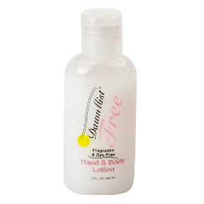DawnMist Hand and Body Lotion C02-0317501-8200 - 2 fl oz hand and body lotion in travel size plastic bottle. Fragrance & dye free.