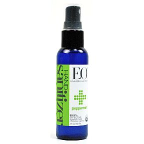 EO® Hand Sanitizer - Peppermint 2 fl. oz. C02-0351512-8200-2 fl. oz. pump spray bottle. 99% effective against most common germs. USDA organic.