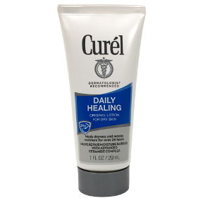 Curel Daily Moisture Original Lotion C02-0353406-8200 - 1 oz lotion in travel size plastic tube. For dry skin. Time-released formula for all-day relief.