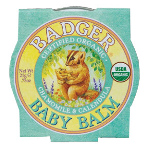 Badger Baby Balm - Chamomile & Calendula C02-0370711-9100 - 0.75 oz skin balm in travel size tin. USDA Organic.