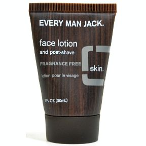 Every Man Jack® Face Lotion and Post-Shave Fragrance Free C02-0377301-8200-1 fl. oz. tube. Fragrance Free for sensitive skin.