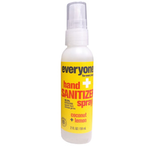 Everyone® Hand Sanitizer Spray - Coconut+Lemon C02-0385901-8100-2 fl. Oz. pump spray bottle. 99.9% effective against most common germs.