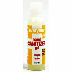 Everyone® Hand Sanitizer Gel - Coconut+Lemon C02-0385901-8400-2 fl. Oz. squeeze bottle. 99.9% effective against most common germs.