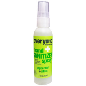 Everyone® hand Sanitizer spray- Peppermint+Citrus C02-0385902-8100-2 fl Oz. pump spray bottle. 99.9% effective against most common germs.Clean Hands Now.