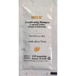 Breck White Marble Conditioning Shampoo Packet with Aloe Vera C03-0114403-1100 - 0.25 oz conditioning shampoo in travel size packet.