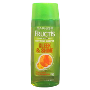 Garnier® Fructis® Fortifying Shampoo Sleek & Shine C03-0139901-8300-3 fl oz bottle. For hair that shines with all it's strength.