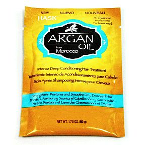Hask® Argan Oil Intense Deep Conditioner Packet C03-0277502-1100-1.75 oz. Argan Oil Intense Deep Conditioning Hair Treatment.