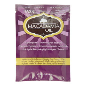 Hask® Macadamia Oil Deep Conditioning Hair Treatment C03-0277504-1100-1.75 oz. packet of hydrating deep conditioning treatment.