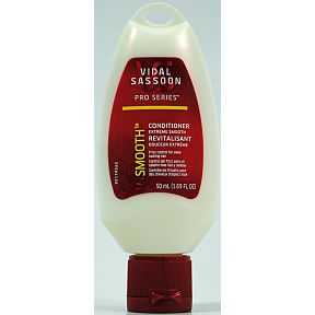 Vidal Sassoon Pro Series Smooth Conditioner C03-0278501-8200-50 ml (1.69 FL OZ) of Pro Series Smooth conditioner. Made in USA.