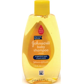 Johnson's® Baby Shampoo C03-0320401-8200-1.5 fl oz travel size baby shampoo in plastic bottle. Improved formula.
