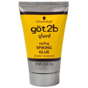 got2b styling Spiking Glue C03-0532001-8100 -1.25 styling spiking glue in travel size plastic tube. Water resistant.