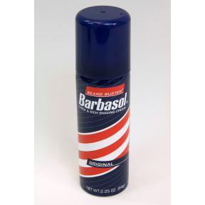 Barbasol Shaving Cream C04-0118100-8100 - 2.25 oz travel size shaving cream in aerosol can.
