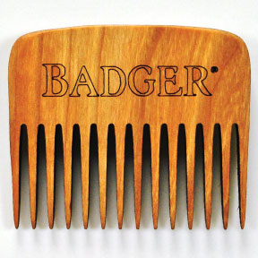 Badger® Cherry Wood Beard Comb C04-0370701-9000 - Cherry wood beard comb