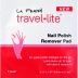 LA Fresh Travel Lite Nail Polish Remover Pad C05-0116801-8100 - 1 travel size nail polish remover pad in sealed packet. With aloe vera. Quick removal.