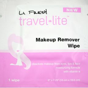 LA Fresh Makeup Remover Wipe C05-0216801-8100 - 1 travel size makeup remover wipe in sealed packet