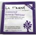 LA Fresh Eco-Beauty Waterproof Makeup Remover C05-0216803-8100 - 1 travel size waterproof makeup remover wipe for eyes and lips in sealed packet.