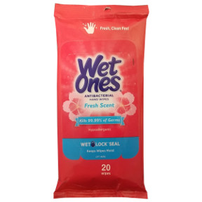 Wet Ones Antibacterial Hand Wipes Fresh Scent 20 Count