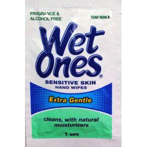 Wet Ones Singles Sensitive Skin Hand Wipes Travel Size