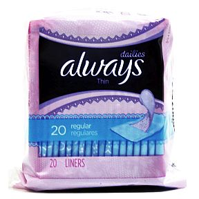 Always® Dailies Thin Pantiliners - unscented - 20 pack C08-0328602-8300-20 pack individually wrapped travel size pantiliners.Thin and absorbent for everyday freshness. A fresh start all day, everyday.