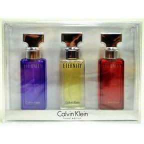 ETERNITY® by Calvin Klein  - Travel Edition C11-0166800-8403-Travel Edition set of 3 eau de parfum sprays.