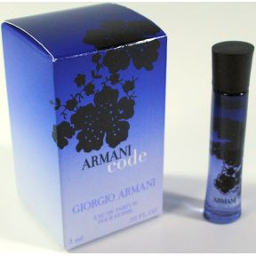 Armani Code by Giorgio Armani Eau de Parfum C11-0182801-8200 - .10 fl oz bottle in box.