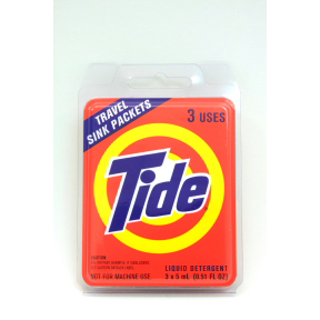 Tide Liquid Detergent Travel Sink Packets Travel Size