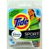Tide® Sport Sink Packets with Febreze - Liquid Detergent D01-0112104-1100-3 packets of 5 mL (1.5 Fl oz.) liquid detergent plus febreze freshness.