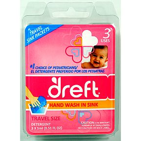 Dreft 174 Sink Packets Quot Gentle Quot Liquid Detergent Travel