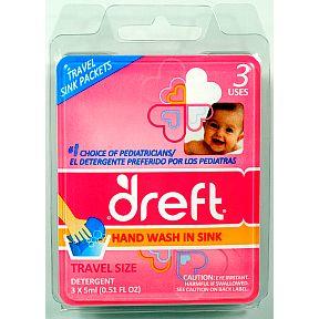 Dreft 174 Sink Packets Quot Gentle Quot Liquid Detergent Travel