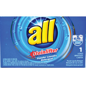 all ultra laundry detergent D01-0127901-4100 - 2 oz travel size laundry detergent in box. With stain lifters. Does one load.