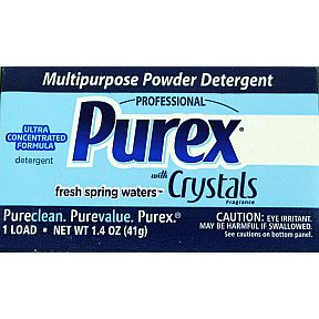 Ultra Purex (laundry detergent) D01-0149201-4100 - 1.4 oz travel size box. Laundry detergent powder. Plus Renuzit Super Odor Neutralizer.