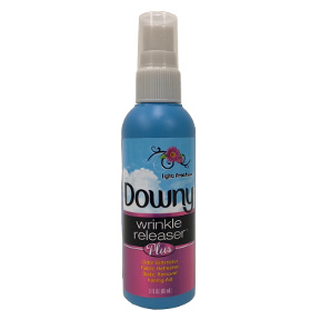 Downy Wrinkle Releaser D02-0113201-3100 - 3 fl oz travel size in plastic pump bottle. Light fresh scent. Smoothes away wrinkles. Reduces static cling.